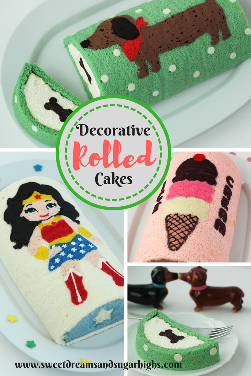 Decorative Rolled Cakes Sweet Dreams And Sugar Highs