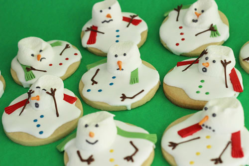 Melted Snowman Cookies Sweet Dreams And Sugar Highs
