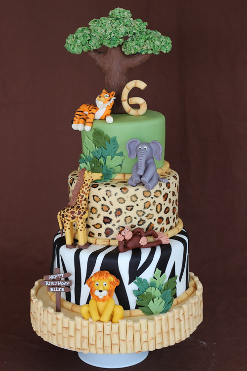 I Loved This Cake And Had So Much Fun With It Everything On The Is Edible Animals Are All Sculpted From Modeling Chocolate Tree Made
