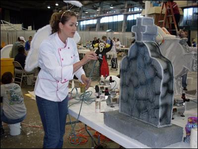 Air Brushing at Sugar Art 2010